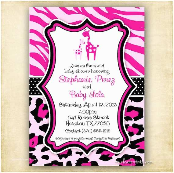 Zebra Print Baby Shower Invitations Leopard Print Baby Shower Invitations – Gangcraft